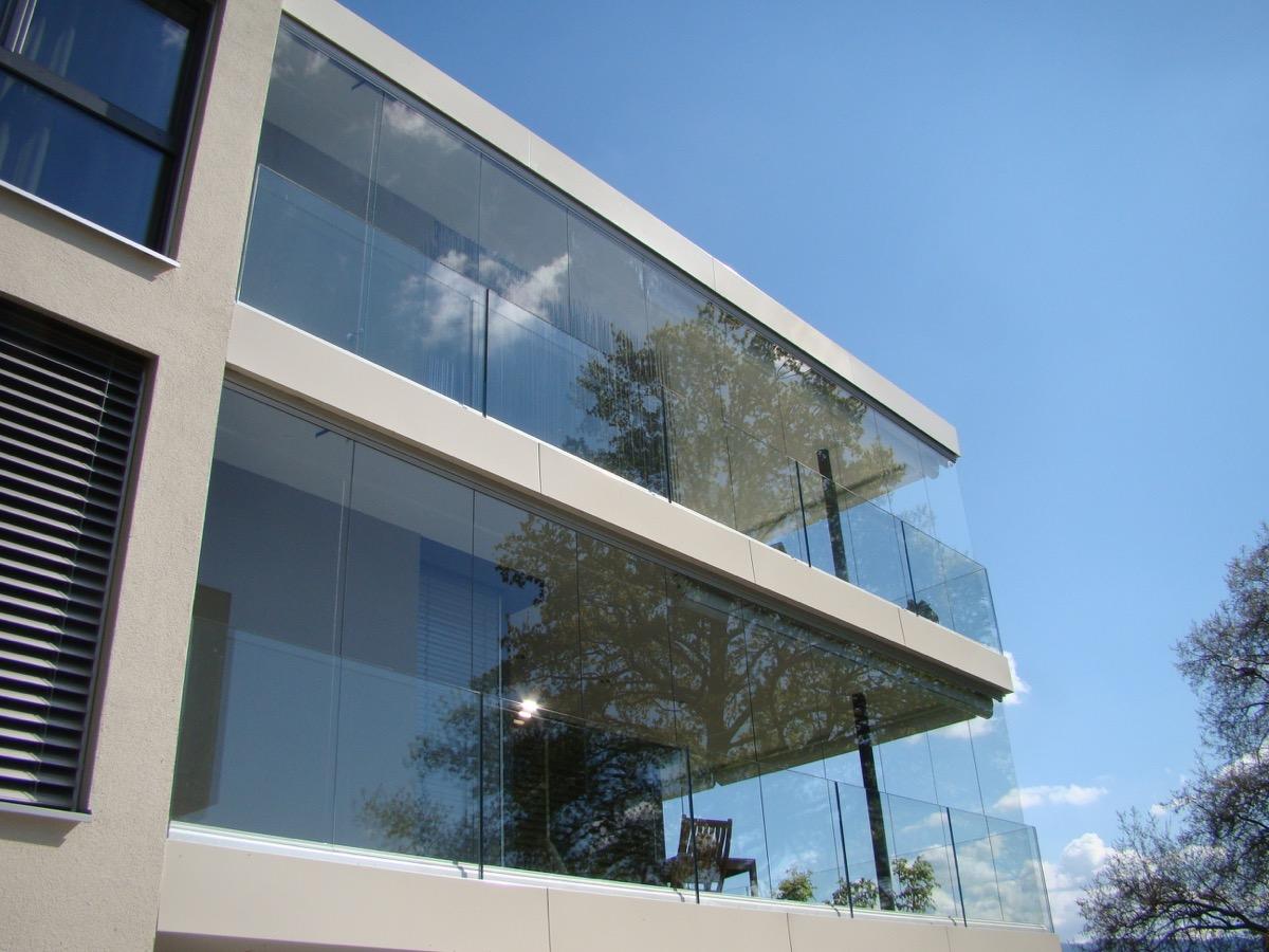Balkonverglasung Zurich Fixe Verglasung Windschutz